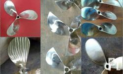 Marine propellers stainless and manganese bronze