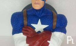 Marvel Hero Captain America Bust Figure Coin Bank