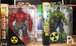 Marvel Select Red Hulk and Marvel Select Unleashed
