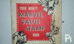 Series A Marvel Value Stamp book, WITH stamps