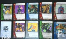-Card collection of your favorite Marvel characters,