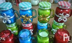 MADE TO ORDER SIZE: small mason jars COLOR: for