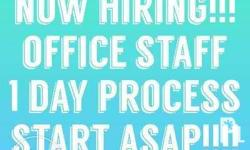 Help Wanted: Office Staff Assistant & OJT Are With High