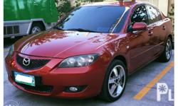 Mazda 3 2004 model, automatic, red. Leather seats. 17""