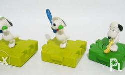 """Selling these 2nd hand """"Snoopy"""" toys as set for only"""