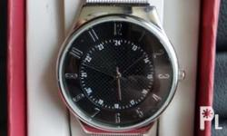 Brand new Merona Mens Analog Dress Watch with Stainless