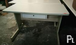 Metal base table with drawer Harap 55inches Gilid
