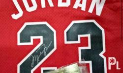 Michael Jordan Hand signed Jersey with picture proof