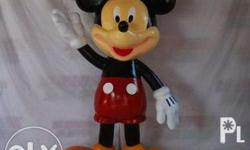 Custom Mickey Mouse 4ft, Fiberglass Statue. Excellent