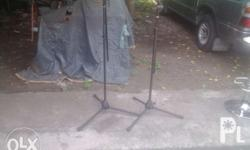 Microphone stand 1 is shure and the other only number