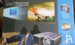 Brandnew mini projector led projector. Input.support