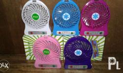 Mini rechargeable fan p149 only Fortable and easy to