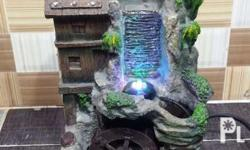 mini waterfall display with colored led light vintage