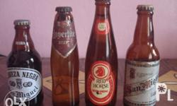 Description: Miniatures of antique beer bottles. Very