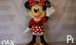 Custom Minnie mouse 4ft, made out of fiberglass. Can be