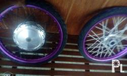 Mio hub, rim, tire set .good condition lahat may onting