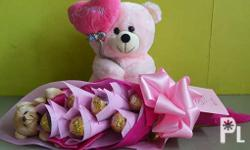 Just because you miss her. Gift Set: Love Bear Stuffed