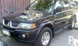 Description Condition: Used mitsubishi Montero 4x4 2005