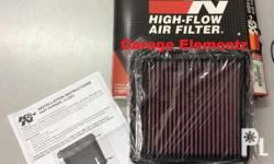 Mitsubishi Montero K & N high-flow air filter washable