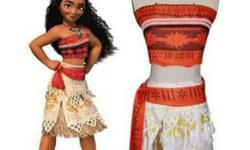 Moana costume kids Brand new Size 2 to 6 years old Were