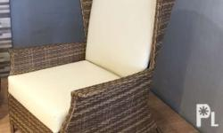 "Modern Rattan accent chair "" rattan wing chair"" Please"
