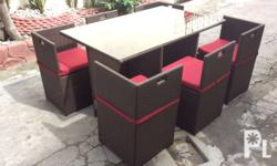 "Outdoor and indoor ""space save"" dining set 6"" We also"