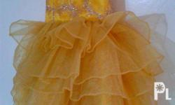 Mommy and Daughter Elegant Dress/ Gown - Gold Theme -