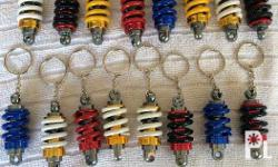 FREE SHIPPING assorted color mono shock Key chains
