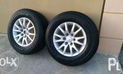 "17"" Montero rims with tires (4 plus 1) complete with"
