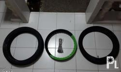 *Motard Wheel Set without Hub(Green/Black Rim) *Tire -