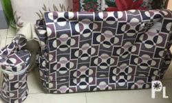 Authentic mothercare diaper bag with diaper mat and