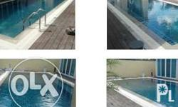 Luxury overflow swimming pool 9m x 5m including: Shower