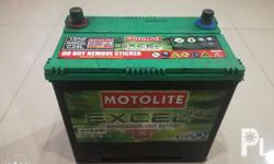 Used Motolite excel N40 1SNF 2years old 11.6 volts in