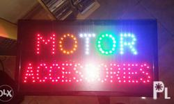 Motor accessories led signage Motor word blinks
