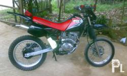honda xr200 with free helmet and new pain