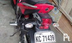 Red Yamaha Motorcycle 150cc new updated registration