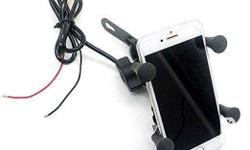 Universal Motorcycle Mount Cell Phone Holder USB