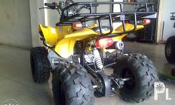 Motorcycle quad 4 stroke engine w/ reverse chain drive