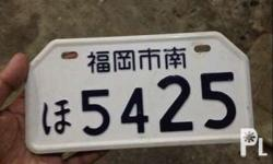 Motorcycle japanese plate Original Makinis
