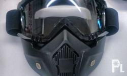 Motorcycle mask Clear Smoke Rainbow Text only
