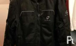 Black Piston textile mesh jacket With CE approved