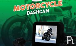 Did you know? Yes! That's a dashcam for a motorcycle!