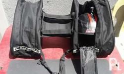 Motorcycle saddle bags windshield and one time used