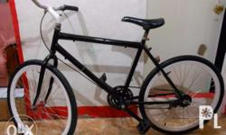 Good looking and clean black FIXED GEAR mountain bike,