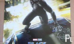 MOVIE POSTERSS!! black panther- 27x40 -500 1sided