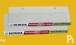 Mugen Plate Cover for Honda Cars - Pair - With Bolts