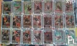 Old Arcade Game Mushiking cards Bronze and Silver