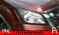 mux matte black trims head and taillight covers 3,500