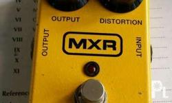 Mxr distortion plus w/ box and manual Price: 2200 For