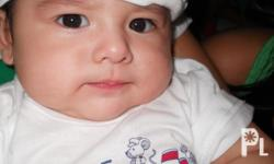 my baby boy 5 months old.he's very cute,love to smile